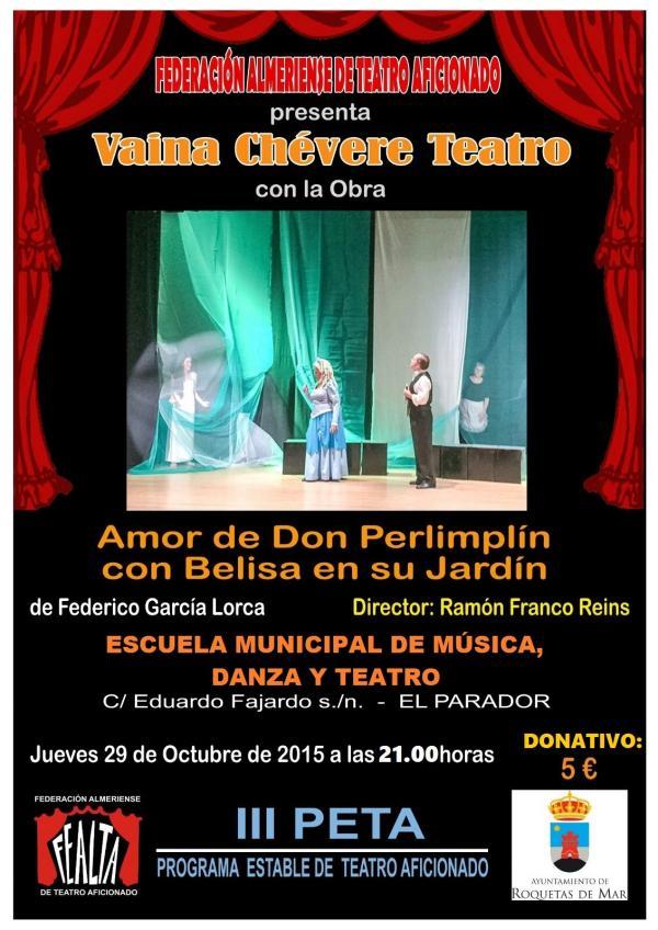 Ltimas actividades escuela de m sica danza y teatro for Amor de don perlimplin con belisa en su jardin